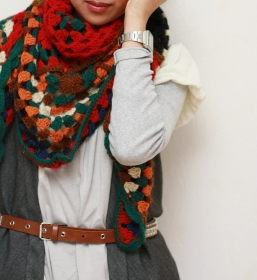 foulard crochet