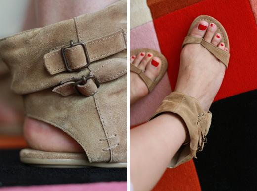 zara guetre sandales