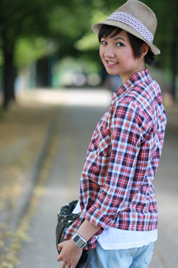 chemise à carreaux maje