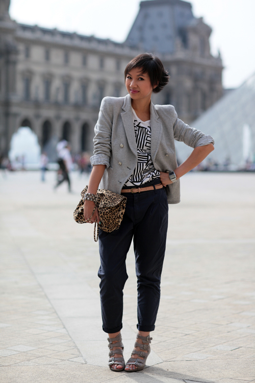 Que mettre avec un pantalon bleu marine - Que mettre avec un pantalon gris ...