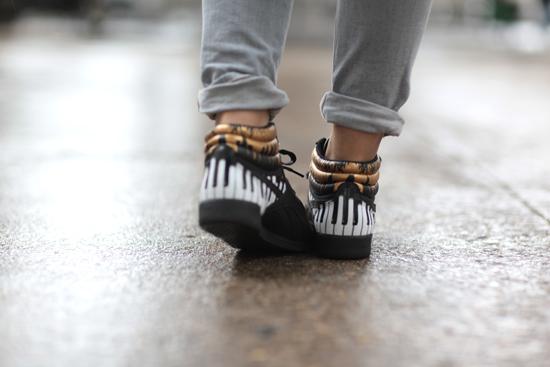 Sneakers Classic Nylon & Freestyle Hi Slim Alicia Keys x Reebok offertes par MTV Manteau perfecto Biker coat ASOS · Sweat shirt Zara Skinny jeans Lee