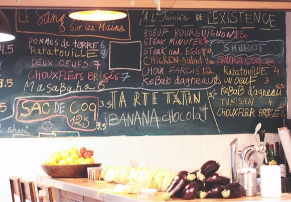 Oui miznon le monde de tokyobanhbao blog mode gourmand for Tableau noir restaurant