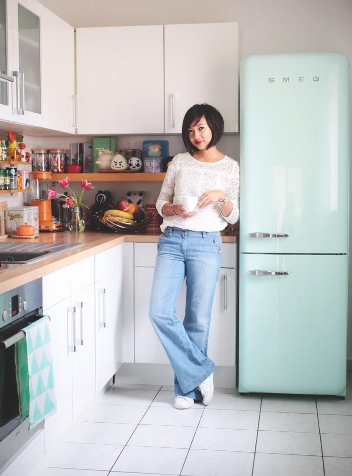 great frigo duamour smeg torchon with frigo smeg rouge. Black Bedroom Furniture Sets. Home Design Ideas